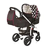 Hauck Malibu XL All-in-One Travel System, from Birth, Black and White (Car Seat, Carry Cot,...