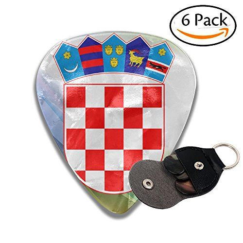 (Coat Of Arms Of Croatia 351 Shape Classic Celluloid Guitar Picks For Guitar Bass - 6 Pack .71mm )