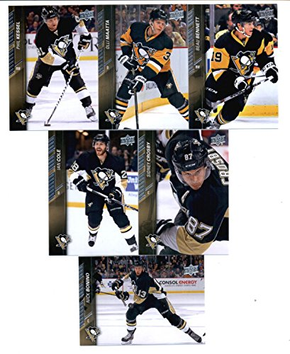 2015-16 Upper Deck Pittsburgh Penguins Hockey Master Team Set of 13 Cards: Derrick Pouliot(#144), Chris Kunitz(#145), Marc-Andre Fleury(#146), Evgeni Malkin(#147), Kris Letang(#148), David Perron(#149), Patric Hornqvist(#150), Sidney Crosby(#398), Ian Cole(#399), Phil Kessel(#400), Olli Maatta(#401), Nick Bonino(#402), Beau Bennett(#403) in Protective Snap Case