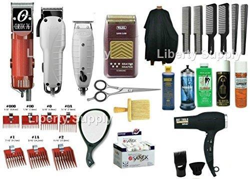 Zeepkbeauty Cosmetology kit, barber school kit, Professional hair dressing kit, Oster 76, Wahl 5 Star Shaver, Andis Fade Master, T-outliner, Complete Barber starter kit