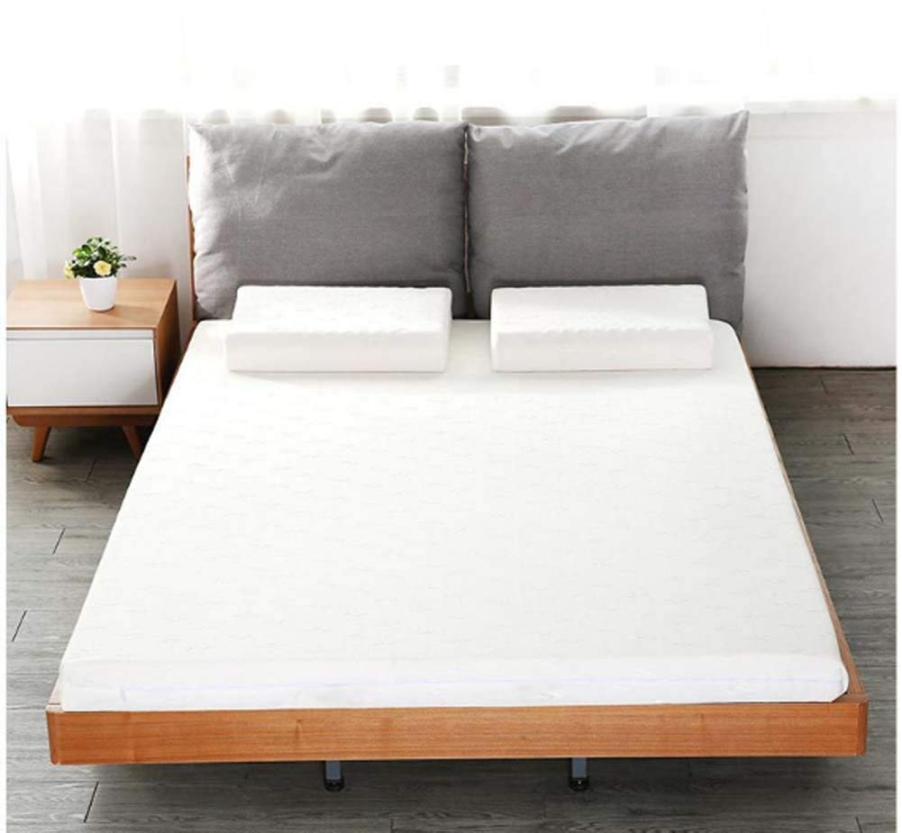 8cm 240x200cm(94x79inch) Latex Mattress Pad King Hypoallergenic, Bedroom Sofa Tatami Hotel- Thai Latex Mattress for Household Sleep Supportive & Pressure Relief,2cm,120x190cm(47x75inch)