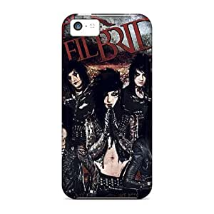 Azv45DieA Tpu Case Skin Protector For Iphone 5c Black Veil Brides With Nice Appearance