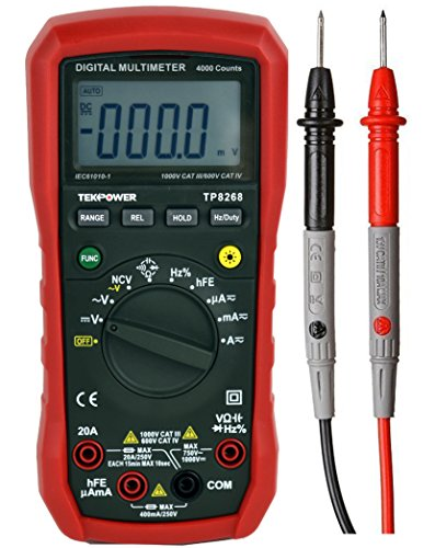 Tekpower TP8268 AC DC Auto/Manual Range Digital Multimeter with NCV Feature, Mastech MS8268 Upgraded (Best Budget Multimeter For Electronics)