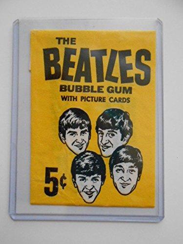 Beatles rare gum cards wrapper 1964