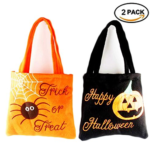 [VEELCOOL Trick or Treat Halloween Sweet Bags Tote Bag Kids Candy Fun] (Halloween Sweet Bags)