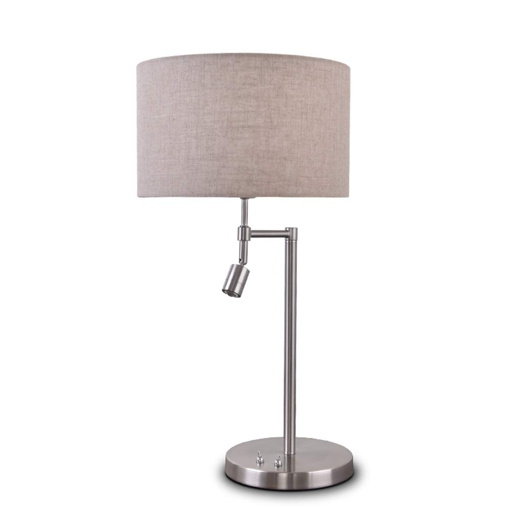 Textured Metal Bedside Table Lamp Bedroom Creative Simple Modern Warm LED Study Room Reading Living Room Decoration Lamps Self-contained Reading Lamp