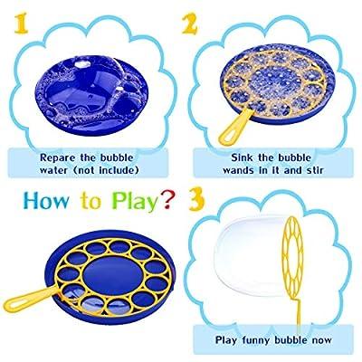 Bageek 15PCS Bubble Wand Set Creative Bubble Making Bubble Maker Bubble Sticks for Kids: Toys & Games