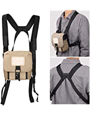 Universal Binoculars Case for Hunting with Comfortable Harness, Portable Protective Binocular Bag with 3 Useful Pockets for Birdwatching Travel