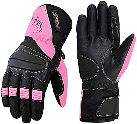 S LADIES PINK SPEED MAXX WOMENS MOTORBIKE//MOTORCYCLE//MOTOCROSS TEXTILE GLOVES