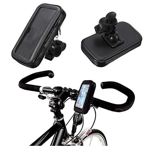 Pudincoco Bicycle Motorcycle Handlebar Mounted Case Waterproof Phone Holder Portable Bag for 5-Inch GPS Easy Installation