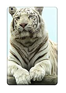 6253981I41088804 Ipad Cover Case - White Bengal Tiger Protective Case Compatibel With Ipad Mini