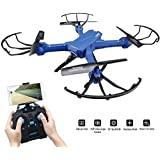 SZJJX RC Drone With Camera FPV VR Wifi RC Quadcopter 2.4GHz 6-Axis Gyro 4CH Remote Control Helicopter with 2MP 720P HD Camera Wide Angle Lens Time Transmission RTF SJ38