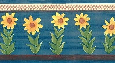 Blue Sunflower Wallpaper Border 2214 KR