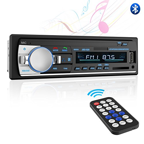 Reeiver,Valoin Universal Single Din Car Radio Receiver with FM Radio,Compact Car Audio Stereo with Remote Control Support MP3 Playback/USB/SD Card (Single Stereo Speaker)