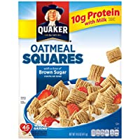 Deals on Quaker Oatmeal Squares Brown Sugar Cereal 14.5 oz