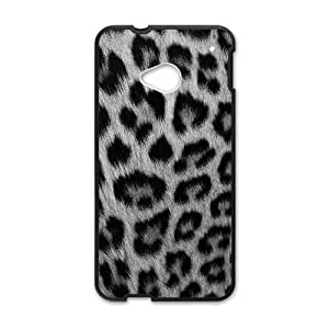 HTC One M7 phone cases Black Snow leopard Phone cover KLW4129544