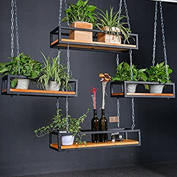 Amazon Com Wgx Growers Hanging Wood Basket Planter With Chain