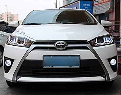 Amazon Com Gowe Car Styling For Toyota Yaris Headlights 2014 2015