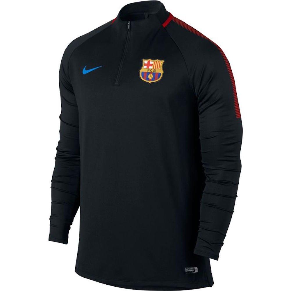 ceec39b6c68 Amazon.com  NIKE Mens FCB Barcelona Long Sleeve Dry Drill Top  Black University Red 854191-011 Size X-Large  Clothing
