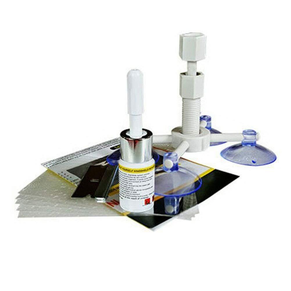 Amosz Glass Corrector Set Parabrisas Parabrisas Repair Kit Tool Riss reparaci/ón para Coche