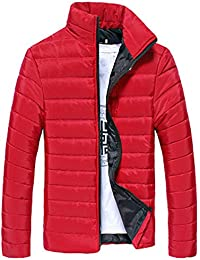 Mens Coat, FORUU Cotton Stand Zipper Warm Winter Thick Jacket