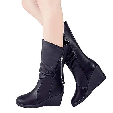 e5bdd745cee Mid-Calf Wedges Boots