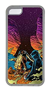 iPhone 5C Case, 5C Case - Protective Flexible Clear Rubber Case Cover for iPhone 5C Star Wars Force Awakens Painting Ultra Thin Crystal Clear Soft Rubber Case Bumper for iPhone 5C