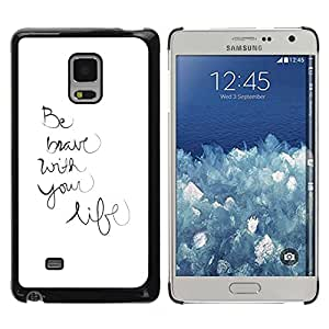 Paccase / SLIM PC / Aliminium Casa Carcasa Funda Case Cover para - Life Be Handwritten Motivational Inspirational - Samsung Galaxy Mega 5.8 9150 9152
