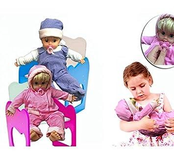 Bebé muñeco con chupete en rosa y azul - Juego y juguete infantil ...