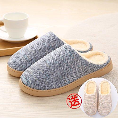 LaxBa Donna Uomo Indoor pattino antiscivolo pantofole blu scuro maschio comprare4243+la ragazza3738