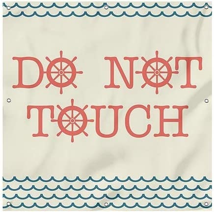 Nautical Wave Heavy-Duty Outdoor Vinyl Banner CGSignLab 6x6 Do Not Touch