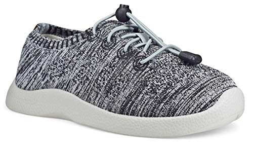 SoftScience The Tradewind Women's Lace-Up Athleisure Shoes - Light Gray/Black, Size 8