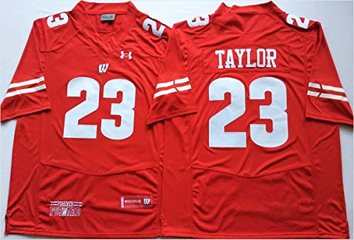 CustomCat Jonathan Taylor #23 Wisconsin Badgers Jersey (Adult and Youth Sizes)