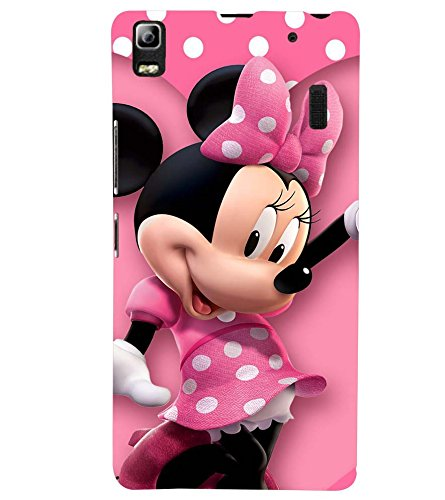 Printvisa Premium Back Cover Polka Dot Pink Mickey Mouse Design for Lenovo A7000::Lenovo K3 Note