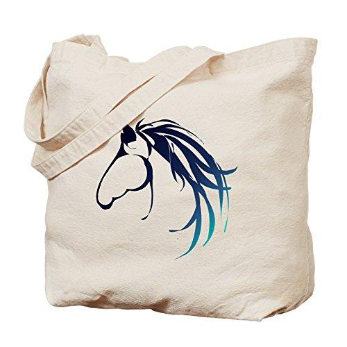 CafePress–Classic azul cabeza de caballo Logo–gamuza de bolsa de lona bolsa, bolsa de la compra