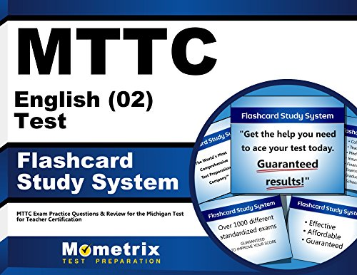 MTTC English (02) Test Flashcard Study System: MTTC Exam Practice Questions & Review for the Michigan Test for Teacher Certification (Cards)