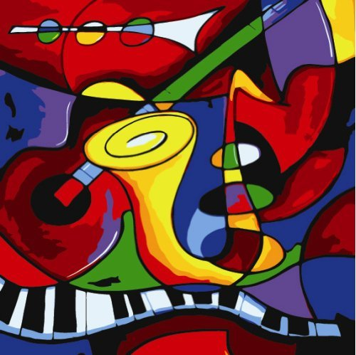 5D DIY Abstract Music by Picasso Diamond Painting