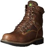 John Deere Men's 8 BRN Waterproof Steel Toe EH Farm/WRK Lu Work Boot, Brown, 13 W US