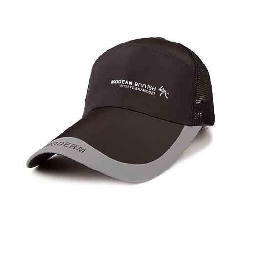 Mens Outdoor Mesh Adjustable Fitted Baseball Cap Fishing Hat Sun ... 72d88298fb2