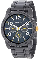 Sprout Men's ST/7001YLGY Multi-Function Resin Watch