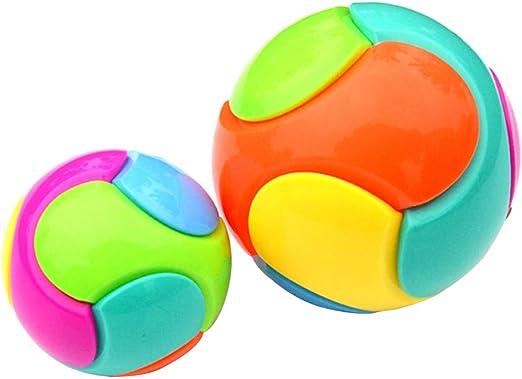 TOYANDONA - 2 Bolas de Juguete para bebé (Color al Azar, 1 Pelota ...