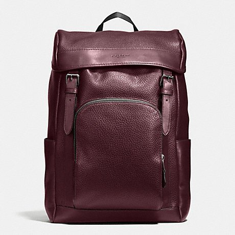 Coach HENRY BACKPACK IN PEBBLE LEATHER F72311, OXBLOOD