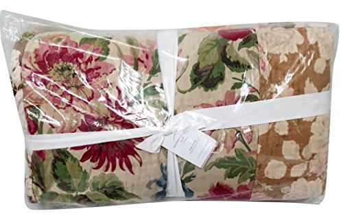 Carolina Quilted Sham (Pottery Barn Carolina Floral Patchwork King Quilt)