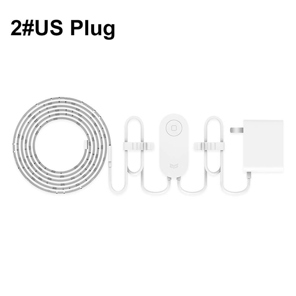 wanshenGyi Yeelight Smart Light Strip,Xiaomi Yeelight Smart RGB LED WiFi APP Control Dimmable Light Strip Home Decor 2#
