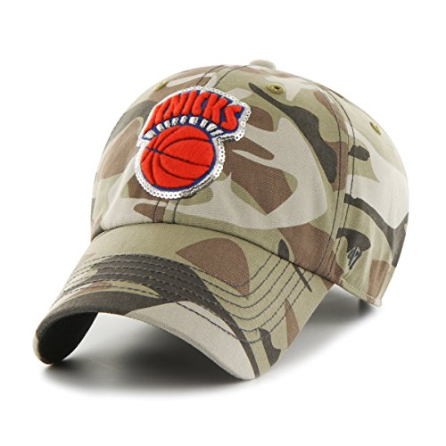 NBA New York Knicks Women's Sparkle Camo Clean Up Hat, Women's, Faded Camo