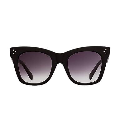 33e32fc992f5 Amazon.com  THOMAS JAMES LA by PERVERSE Sunglasses Women s Bang Bang Chunky  Square Sunglasses (Glossy Black