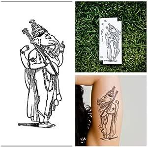 Tatuaje Temporal Tattify - Dios Indio - Dulce de Ganesha (Juego de ...