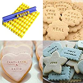 Dasado Keland Alphabet Letter Number Cookie Stamp Mold Cutter Press Home Kitchen Pastry Brushes 3 Material: Plastic Pattern: Letter A-Z, Number Application: Cake, Cookie, etc