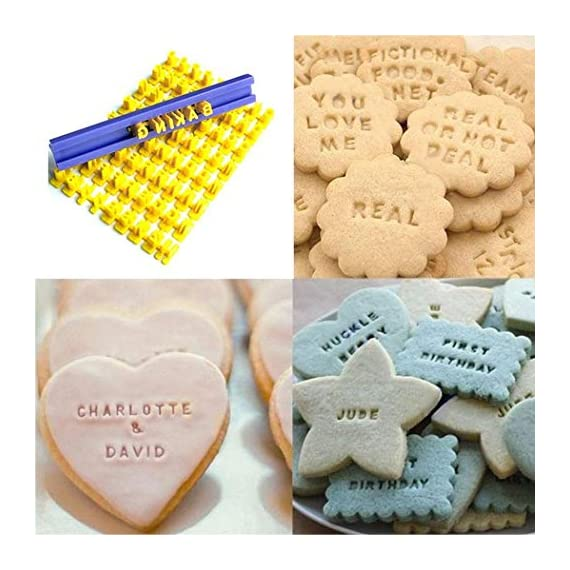 Dasado Keland Alphabet Letter Number Cookie Stamp Mold Cutter Press Home Kitchen Pastry Brushes 1 Material: Plastic Pattern: Letter A-Z, Number Application: Cake, Cookie, etc
