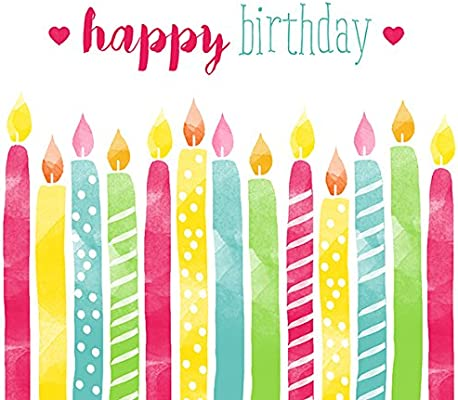 BRAUN COMPANY Servietten 33x33cm 20 St Birthday Candles